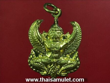 Wealth amulet B.E.2558 Garuda brass amulet by LP Wara (GOD32)