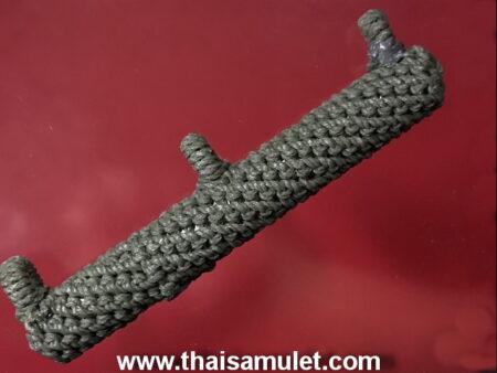 Protect amulet B.E.2530 Takrut Sam Huang or 3 rings Takrut by LP Pern (TAK8)