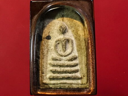 B.E.2494 Phra Somdej Ket Mongkol holy powder amulet in popular imprint (SOM168)