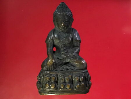 B.E.2506 Phra Kring Tibet holy metal amulet in small imprint (PKR32)