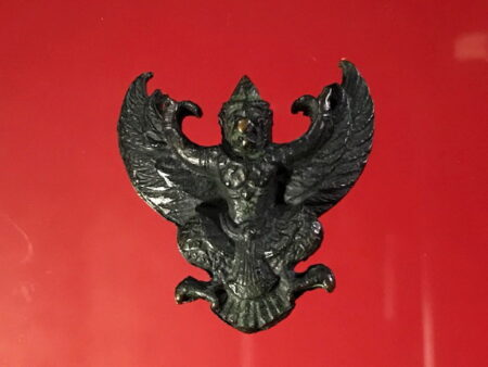 B.E.2522 Phaya Khrut or Garuda lead amulet cover with copper (GOD116)