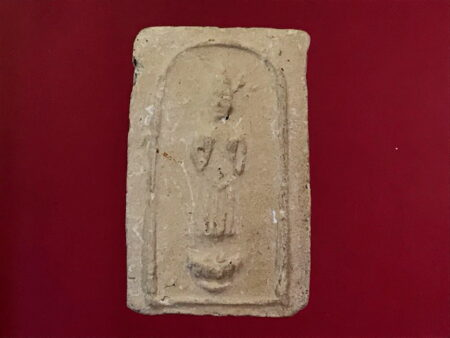 B.E.2499 Daily Buddha holy soil amulet in Monday imprint  (SOM220)