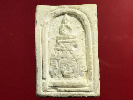 B.E.2517 head of Phra Nuea Phrom holy powder amulet (GOD124)