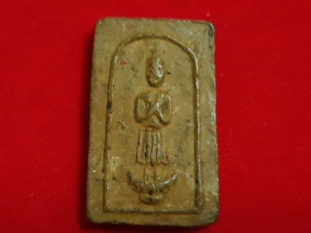 B.E.2499 Daily Buddha holy soil amulet in Friday imprint (SOM246)