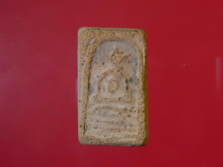 B.E.2460 Phra Somdej holy soil amulet in small imprint by Wat Pho (SOM283)
