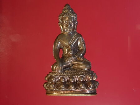 Wealth amulet B.E.2555 Phra Kring Charoen Pon Yod Chat copper amulet with brass base (PKR53)