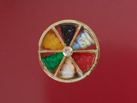 B.E.2510 Lak Ha Hook plastic amulet in beautiful condition (GOD168)