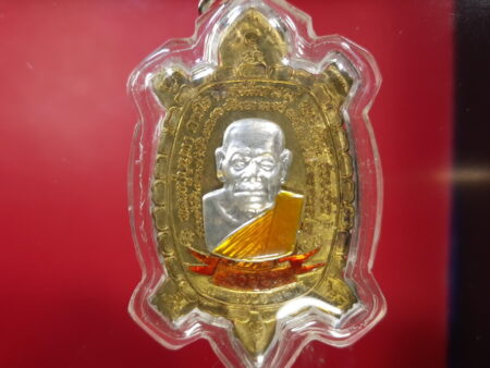 Wealth amulet B.E.2556 Phaya Tao Ruen with dargon coin with LP Boontha mask(MON422)