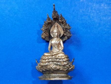 Wealth amulet B.E.2557 Phra Kring Nak Prok Nawaloha and white bronze amulet (PKR71)
