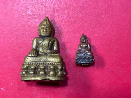 Wealth amulet B.E.2556 Phra Kring and Phra Chaiwat LP Samret Saksit brass amulets (PKR82)