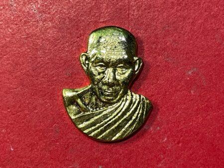 Wealth amulet B.E.2538 LP Kasem copper coin with golden color (MON532)