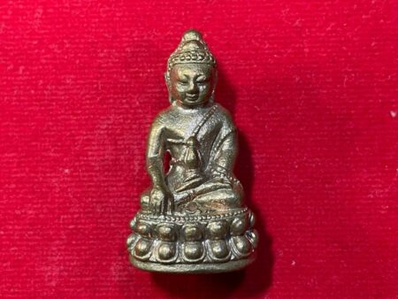 Wealth amulet B.E.2557 Phra Kring Maha Jakkaphat bronze amulet by LP Kai (PKR88)
