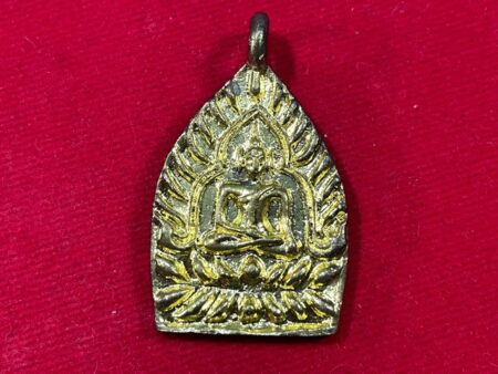 Wealth amulet B.E.2555 Phra Jao Sau brass amulet in beautiful condition by LP Phrom (SOM493)